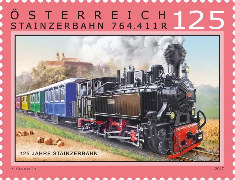 """Sondermarke """"125 Jahre Stainzerbahn""""  0528_s10"""