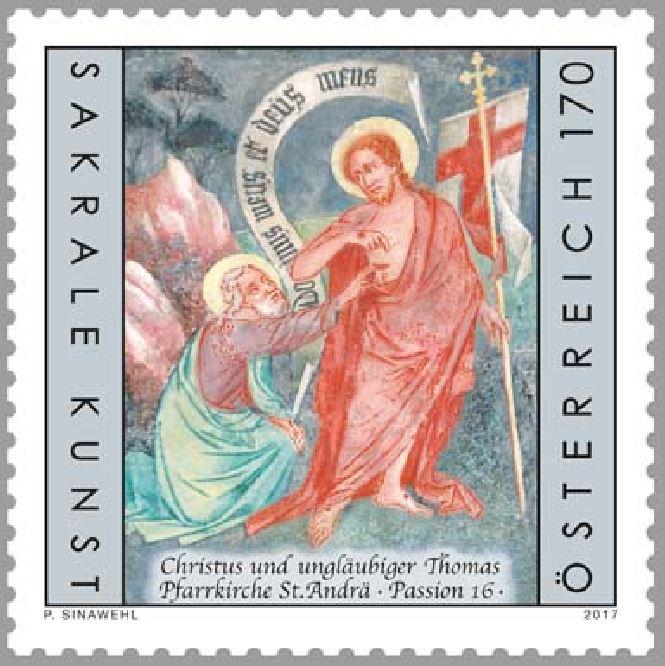 Sakrale Kunst in Österreich - Christus und ungläubiger Thomas 0714_s10