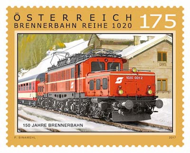 "Sondermarke ""150 Jahre Brennerbahn""  0715_b10"