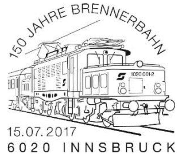 "Sondermarke ""150 Jahre Brennerbahn""  0715_b11"