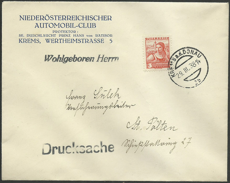 Österreich 1925 - 1938 - Seite 6 1938_m10