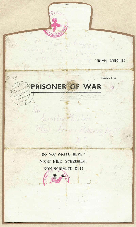 Kriegsgefangenenpost II. Weltkrieg (Österreich) Kriegs10