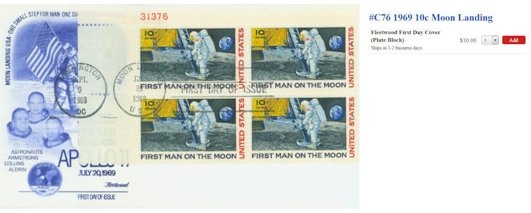 Sonderpostmarke 《Apollo 11》 Moonla10