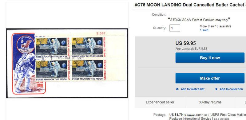 Sonderpostmarke 《Apollo 11》 Moonla11