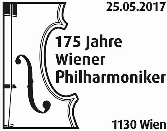 """Sondermarke """"175 Jahre Wiener Philharmoniker"""" Stempe15"""