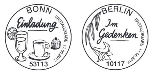 Neuausgaben 2017 - Deutschland Stempe16