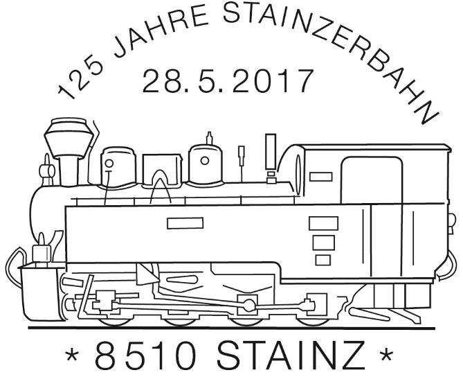 """Sondermarke """"125 Jahre Stainzerbahn""""  Stempe21"""