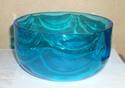 whitefriars? kingfisher blue type ripple/swag bowl 410