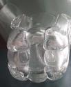 very heavy deco glass/crystal vase Castle11