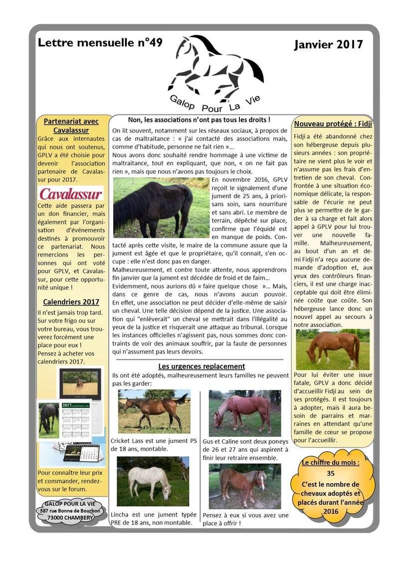 GPLV - Lettre Mensuelle n°49 - Janvier 2017   Nl_jan10
