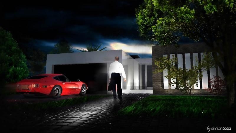 مخطط منزل صغير من الفكرة الى الرندر النهائي R610
