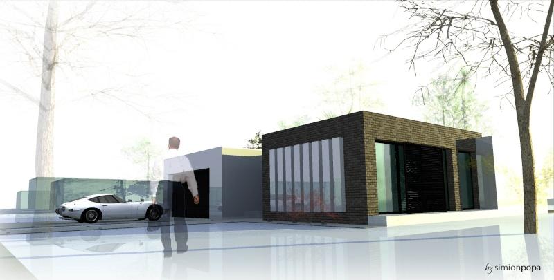 مخطط منزل صغير من الفكرة الى الرندر النهائي R710