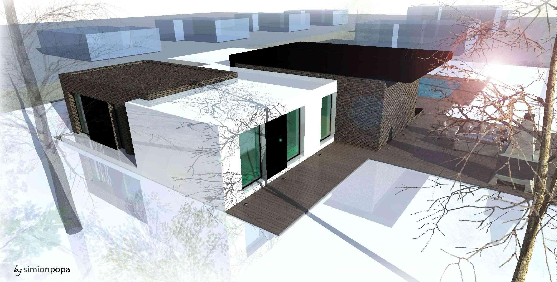 مخطط منزل صغير من الفكرة الى الرندر النهائي R810