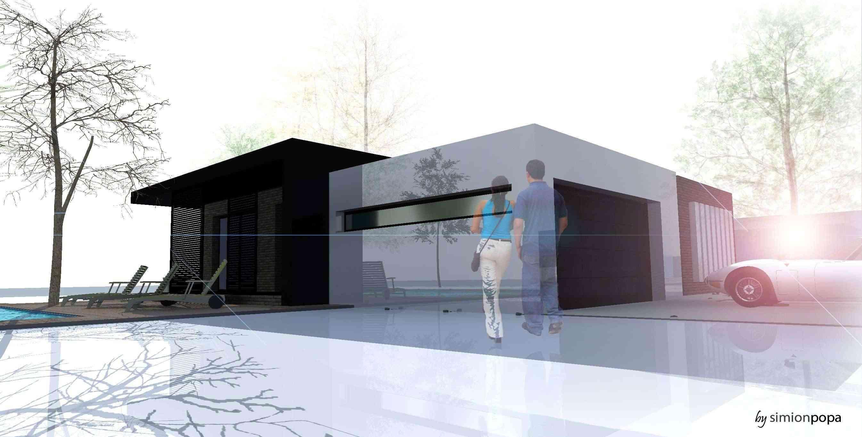 مخطط منزل صغير من الفكرة الى الرندر النهائي R910