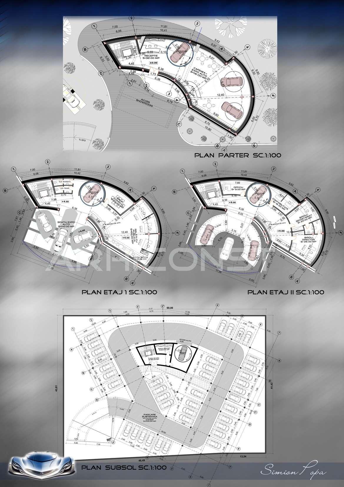 مخطط معرض سيارات Showroom Auto Simion11