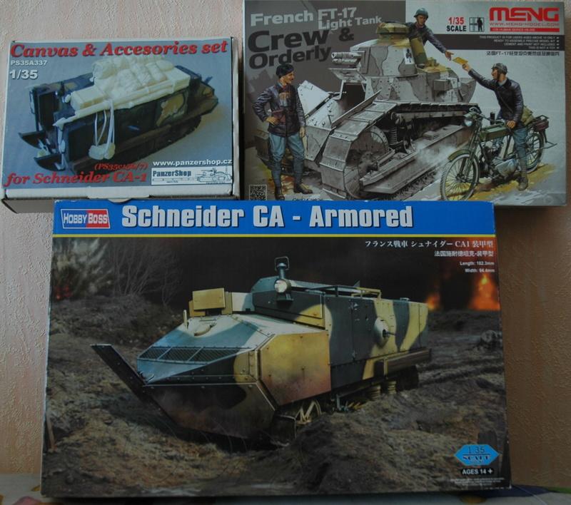 Le Schneider Ca Armored de Hobby Boss au 1/35ème 00610