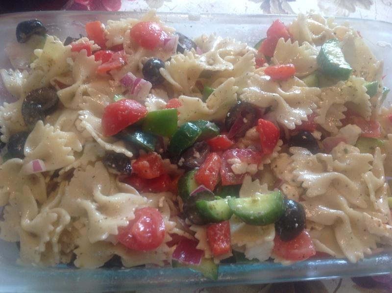 Salade Grec avec pâtes Img_7516