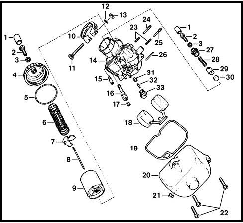Réglage du carburateur BVF 22N2 pour ETZ 125 Bvf_2210