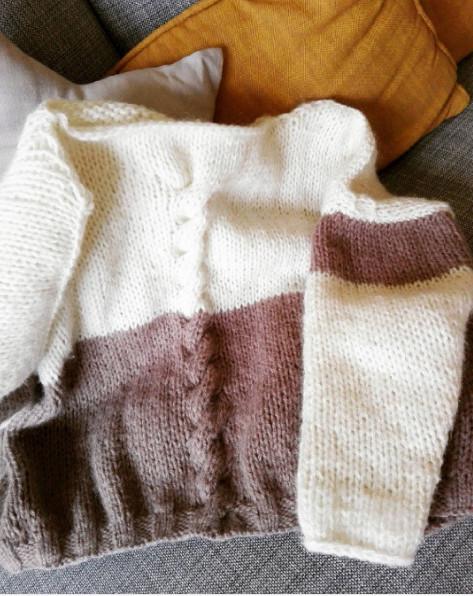 Pull bicolore nude 0410