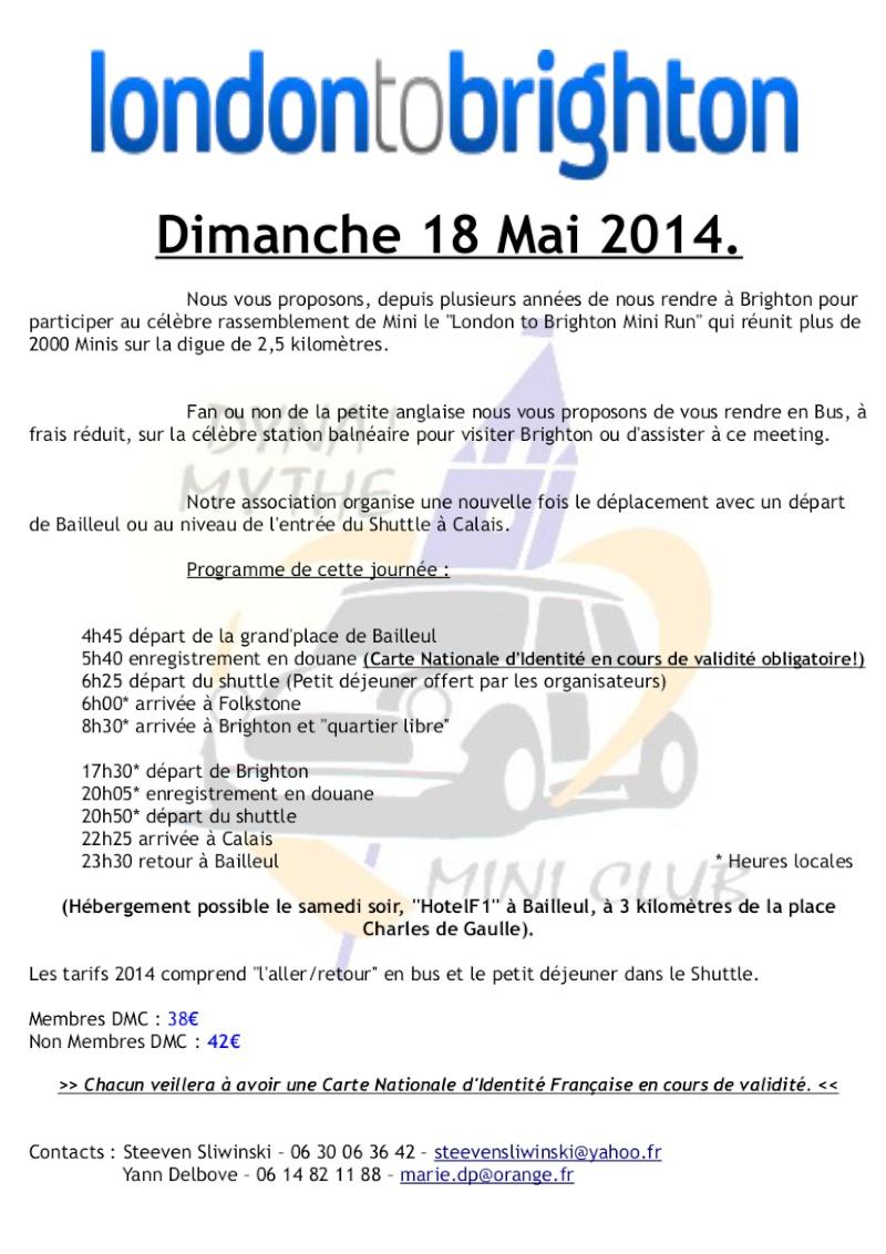 London to Brighton Mini Run - Dimanche 18 Mai 2014 Formul10