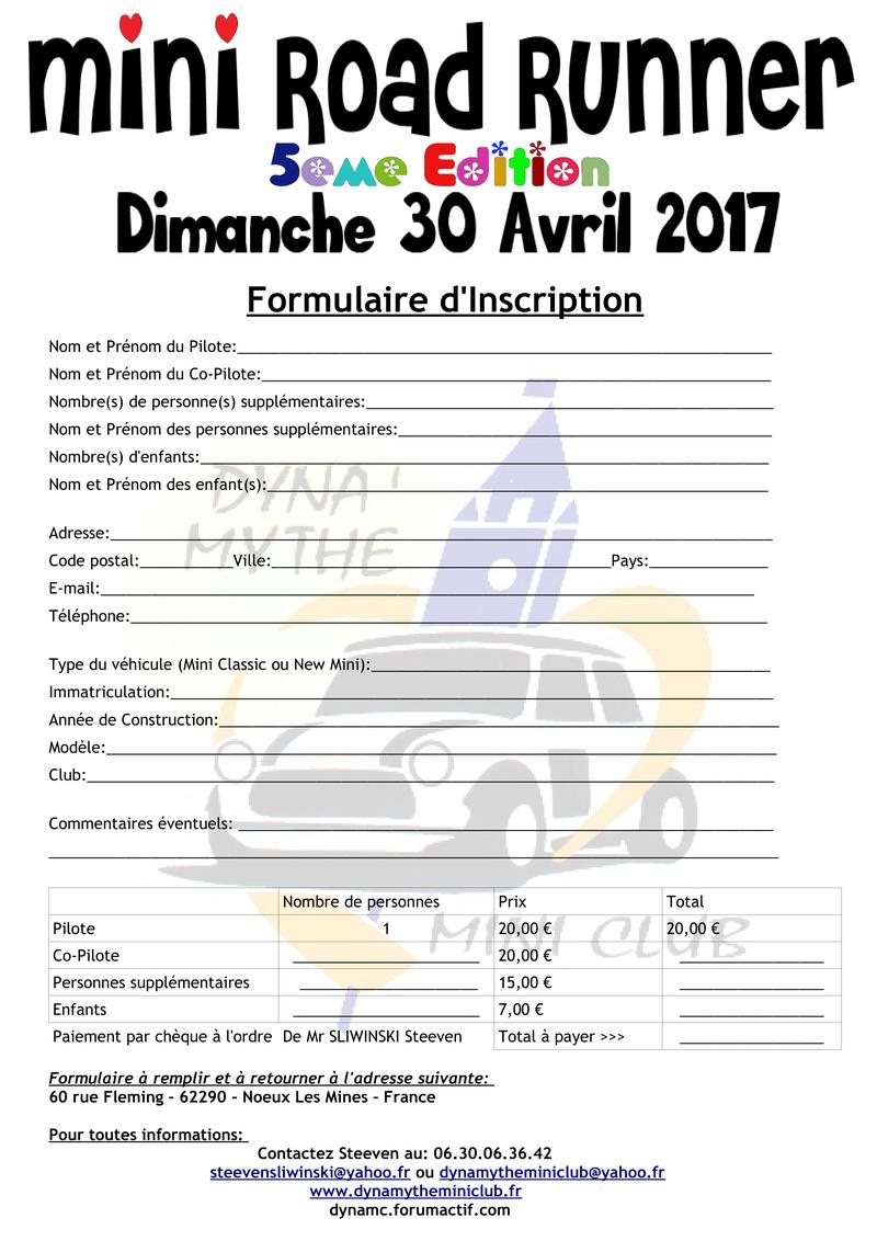 [Dimanche 30 Avril 2017] 5eme Edition du Mini Road Runner Formul18