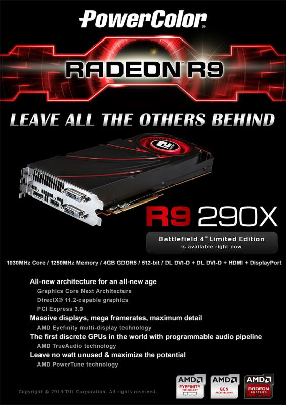 FS-3*Powercolor Radeon R9 290X OC ( New Factory sealed With BF4) Eflyer12