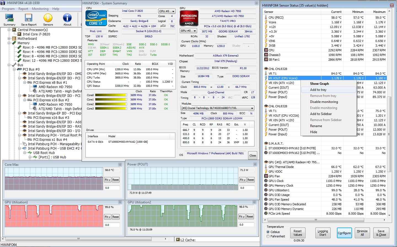 Les logiciels à avoir, pour tester sont Overclock MAJ( 10 OCT 2013) Hwinfo10