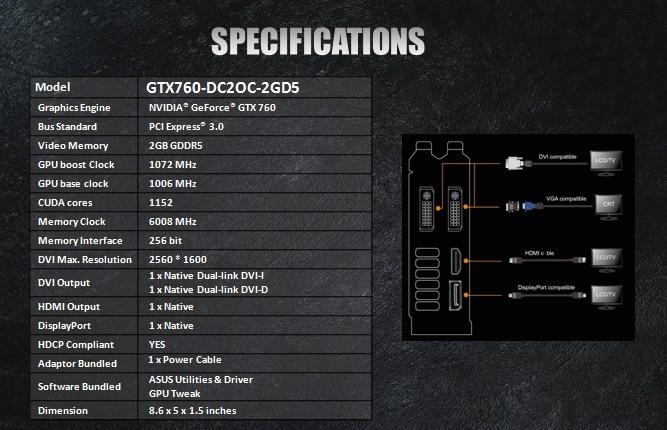 FS- ASUS GeForce® GTX 760 DirectCU II  2GB Oc-asu10
