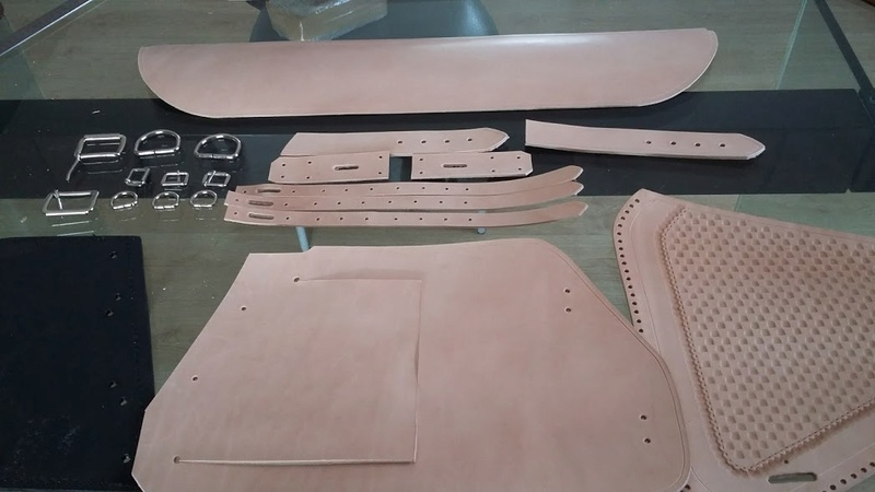 Fabrication d'une sacoche  latérale pour cadre rigide 20170211