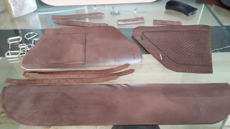 Fabrication d'une sacoche  latérale pour cadre rigide 20170213