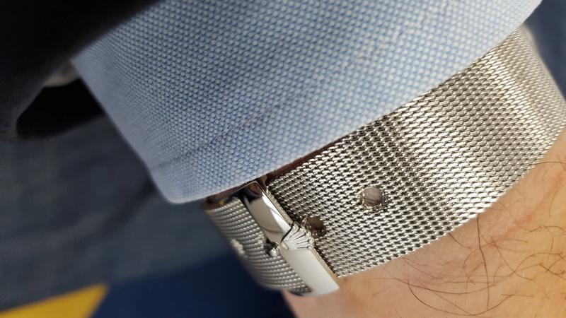 Porter une montre sur bracelet acier par grosse chaleur 20160910