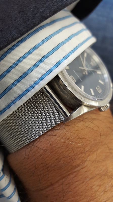 Porter une montre sur bracelet acier par grosse chaleur 20160911