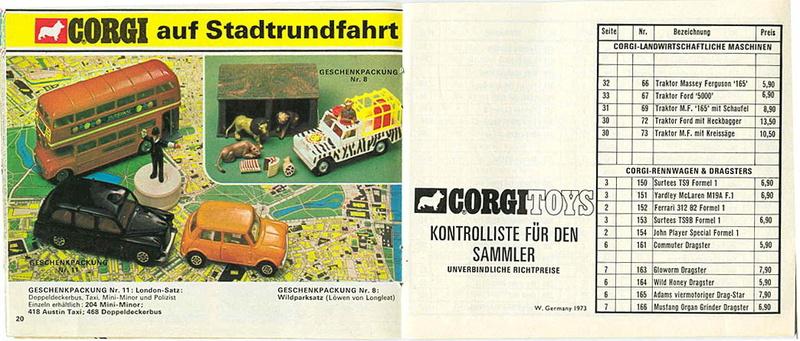 Corgi - Catalogo 1973 - versione tedesca 1017