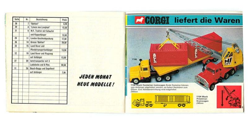 Corgi - Catalogo 1973 - versione tedesca 1117