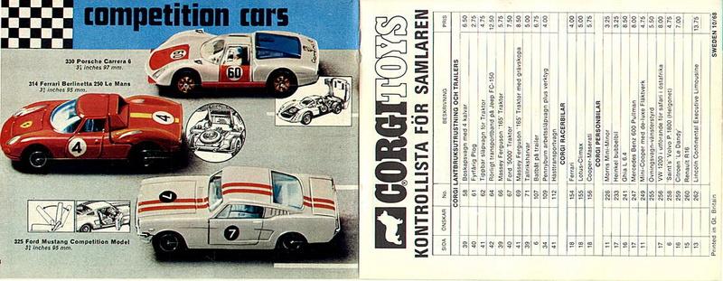 Corgi Toys - Catalogo 1969 1216