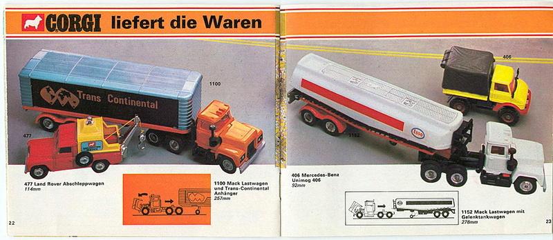 Corgi - Catalogo 1973 - versione tedesca 1218