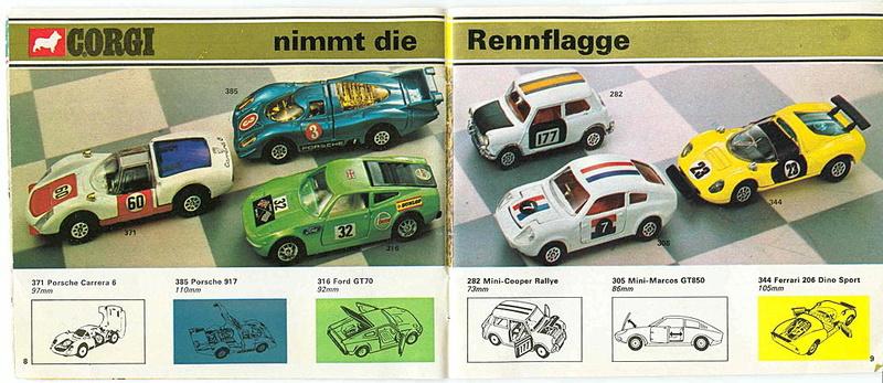 Corgi - Catalogo 1973 - versione tedesca 419