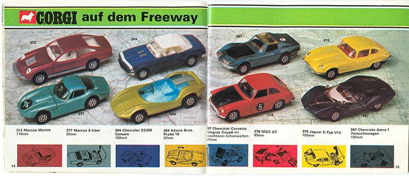 Corgi - Catalogo 1973 - versione tedesca 718