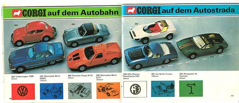 Corgi - Catalogo 1973 - versione tedesca 817