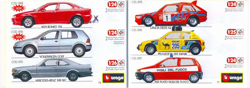 Catalogo 1999-2000 Burago76