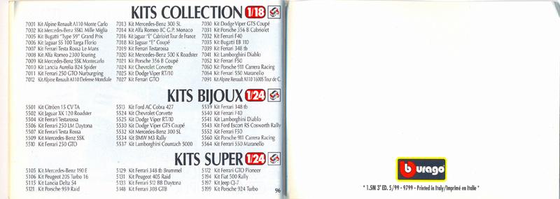 Catalogo 1999-2000 Burago87