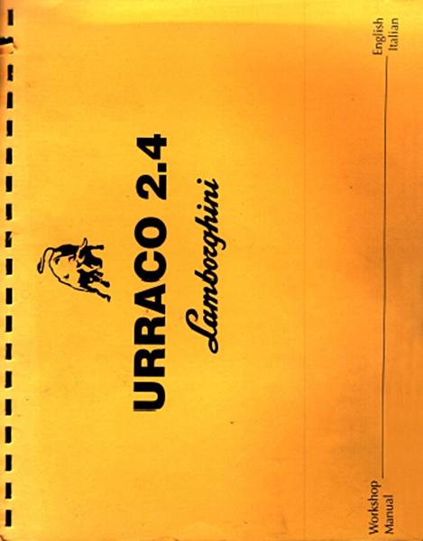 Manuale d'officina Lamborghini Urraco Urraco11