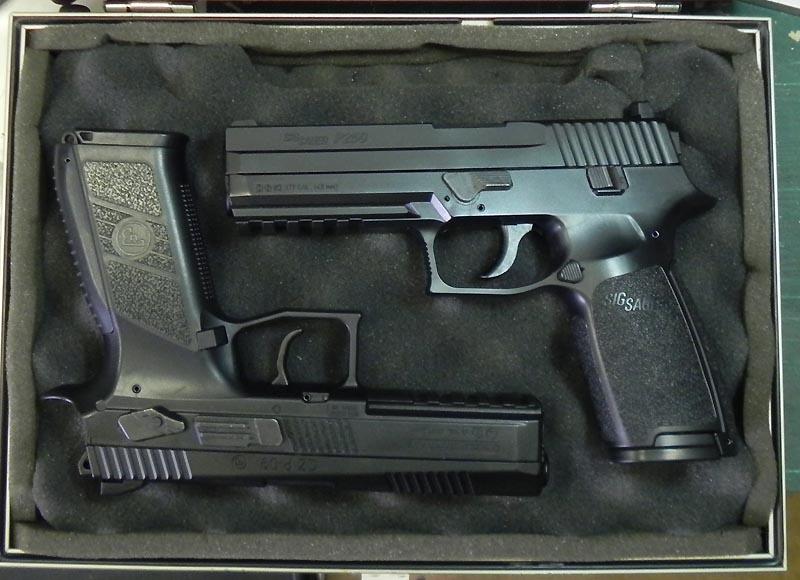 Sig Sauer P226 Air Pistol FDE et P320 Black 4.5 diabolo Barill11