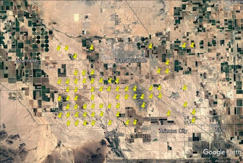 Les cibles pour les satelites de la CIA, Casa Grande (Arizona, Etats-Unis) 68_cib10