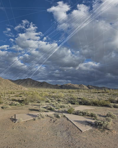 Les cibles pour les satelites de la CIA, Casa Grande (Arizona, Etats-Unis) Af4910