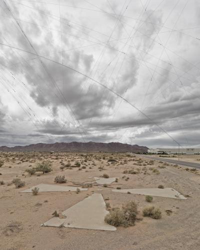 Les cibles pour les satelites de la CIA, Casa Grande (Arizona, Etats-Unis) Aj4810