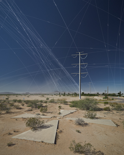 Les cibles pour les satelites de la CIA, Casa Grande (Arizona, Etats-Unis) X4710