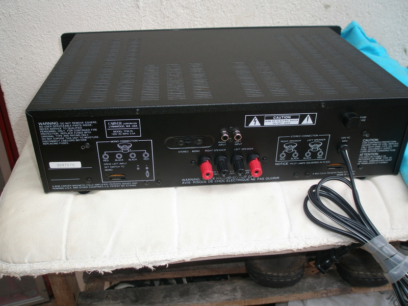 Carver TFM35 Power Amplfier Used( SOLD) P1010512