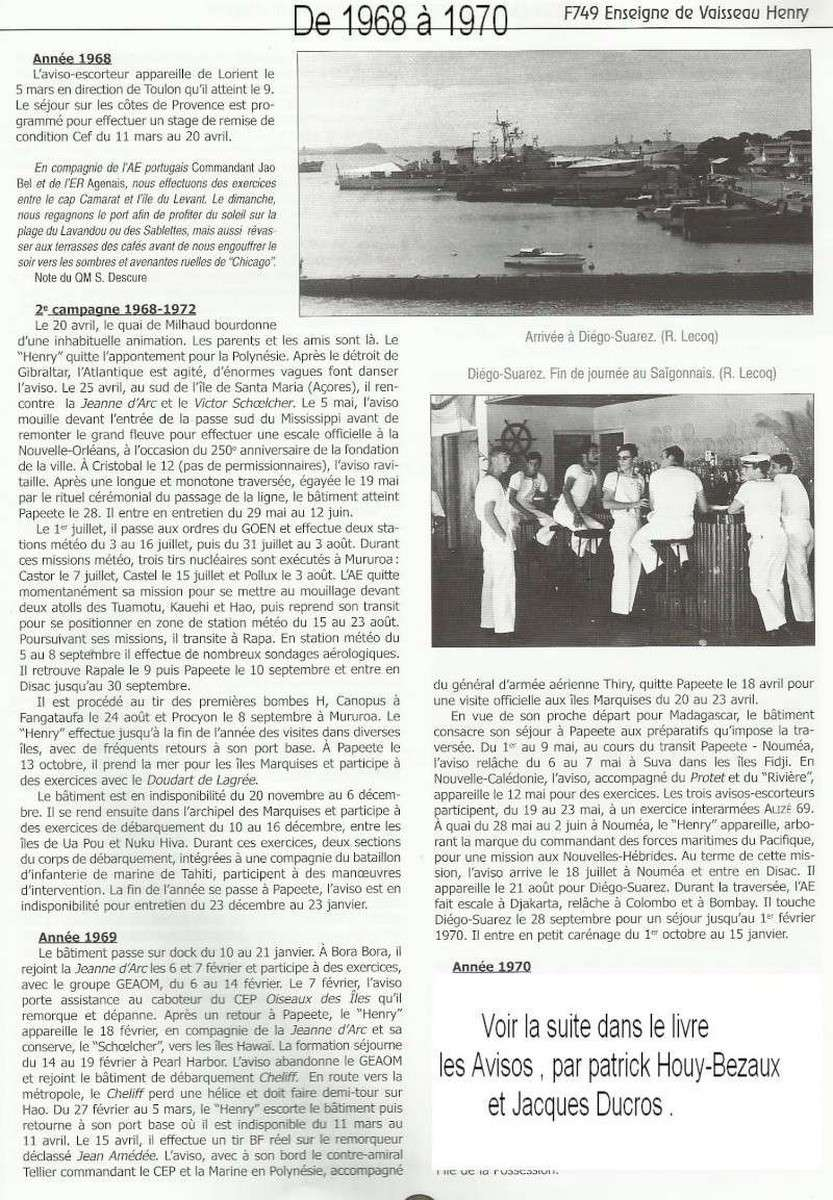 ENSEIGNE DE VAISSEAU HENRY (AE) Tome 1 - Page 21 046