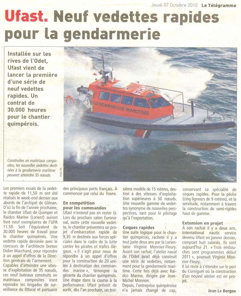 [ Divers Gendarmerie Maritime ] VEDETTES RAPIDES POUR LA GENDARMERIE Momo14
